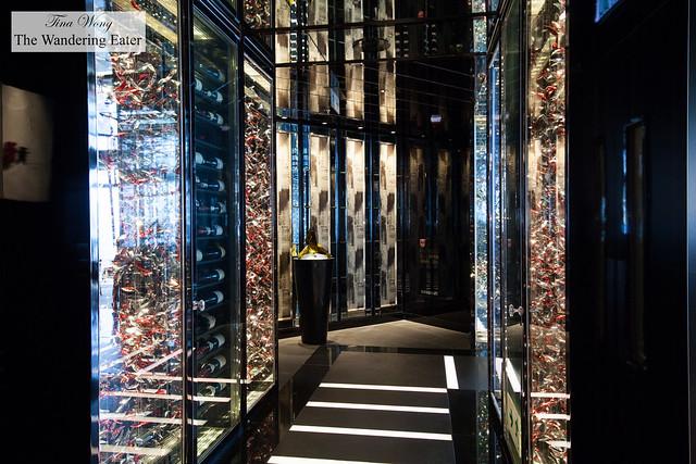 Hallway to the restaurants