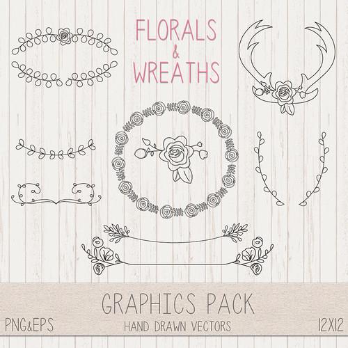 LeeLee Graphics - Wreaths & Florals Clip Art