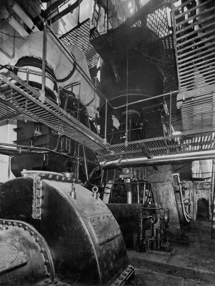 Steam Ship Engine Room: Engine Room Of The Cargo Ship 'Empire Ruskin'