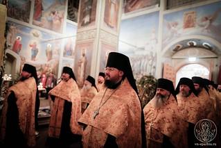 Великая вечерня в Иверском монастыре 175