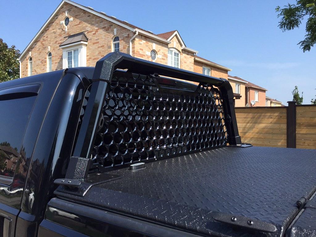 A Heavy Duty Tonneau Cover And Custom Headache Rack On A Ford Super Duty A Photo On Flickriver