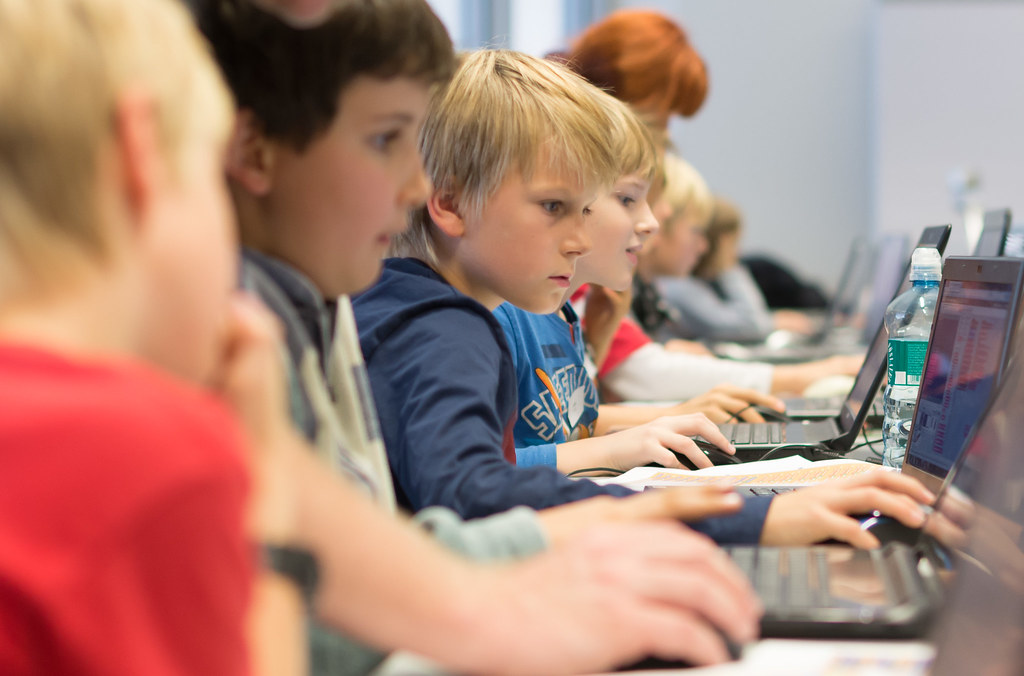 Image result for kids typing