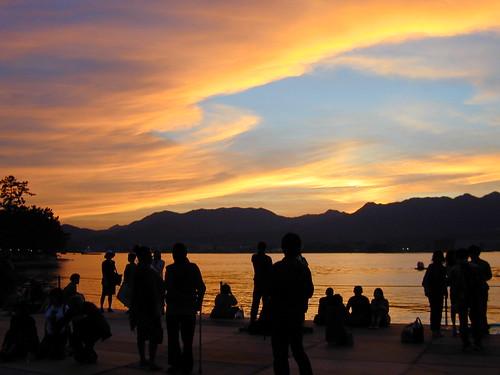 sunset sky orange cloud japan shrine hiroshima itsukushima fivestar