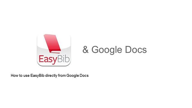 Easybib Inside Google Docs Us Easybib Bibliographic Tool