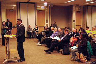Alder Ameya Pawar (47th) asking the board to reinstate the 11-Lincoln Ave bus | by Steven Vance
