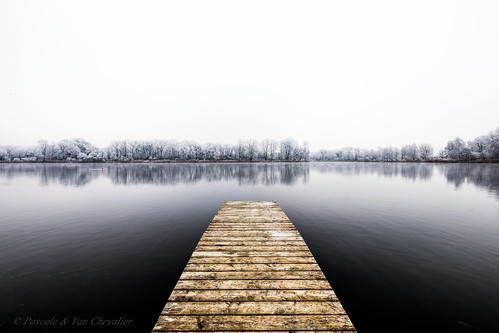 nature landscape sky lake winter tree trees white ice snow freezing cold water reflection hope canon 6d 1635 uwa wide angle wideangle photography outdoors outdoor purity pure dock pier lines crossing abstract bw blackandwhite monochrome