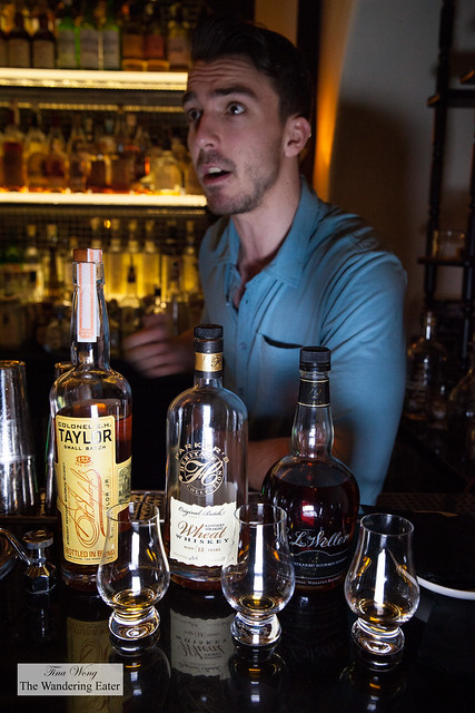 Ben guiding us with a bourbon tasting flight