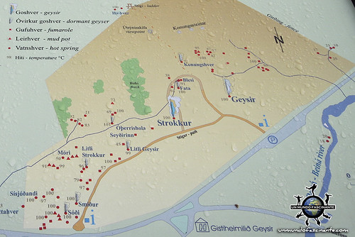 Mapa Geysir, Islandia. | by evamundo.viajes