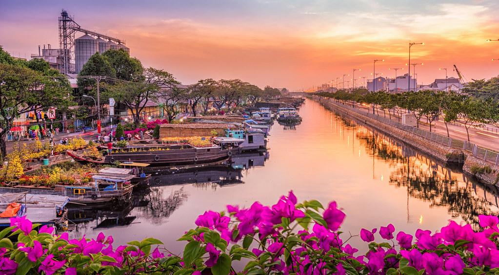 Binh Dong Floating Flower Market.Flower Market In Binh Dong Habor Saigon Vietnam Tet 2017 Flickr