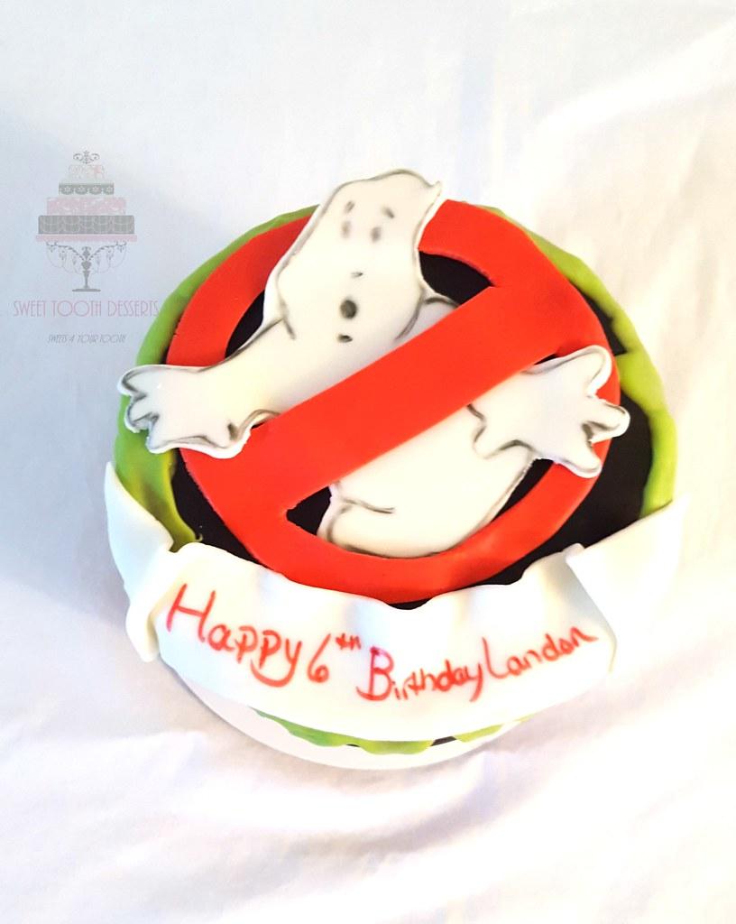 Fabulous Ghostbusters Birthday Cake 6In Ghostbusters 6Th Birthday D Flickr Funny Birthday Cards Online Alyptdamsfinfo