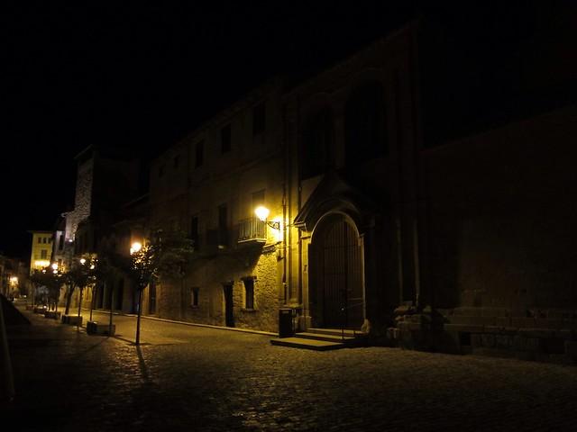 Golden night lights Spain