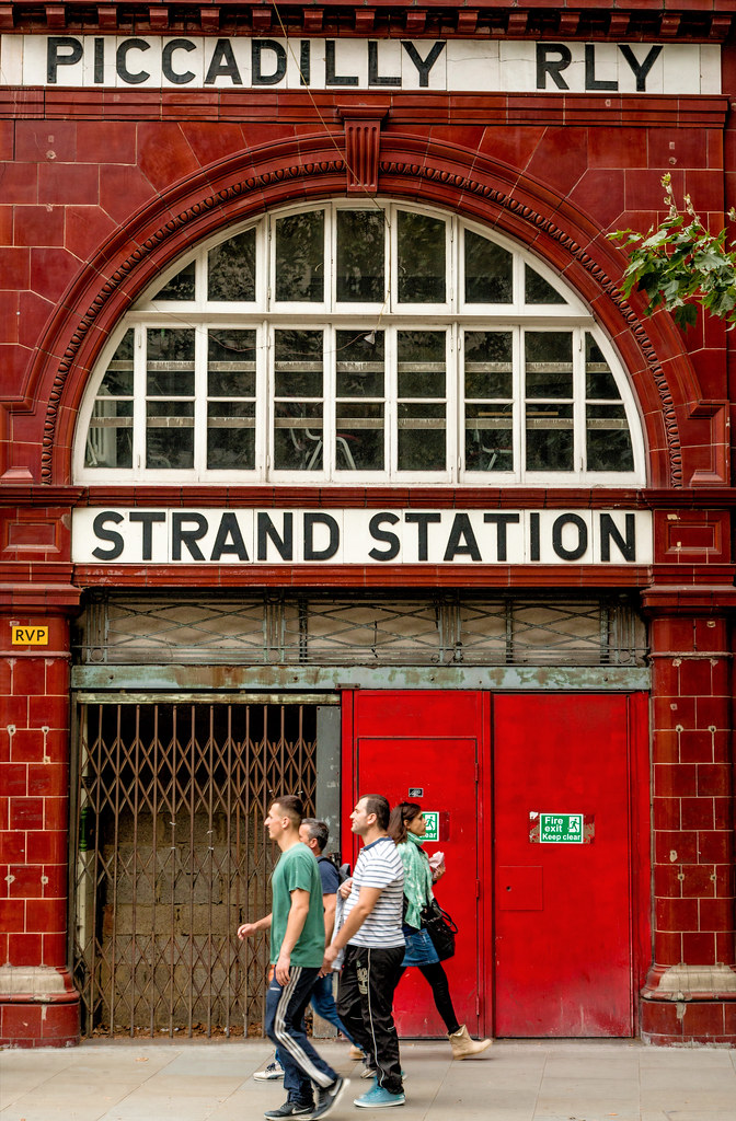 Aldwych aka Strand station, Temple. Disused Piccadilly line branch station.