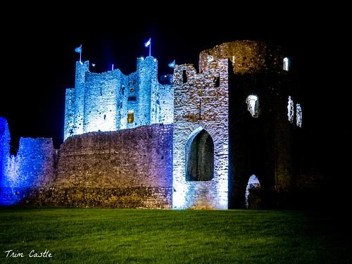ireland building castle history architecture night landscape long exposure medieval norman trim olympusomdem5ii