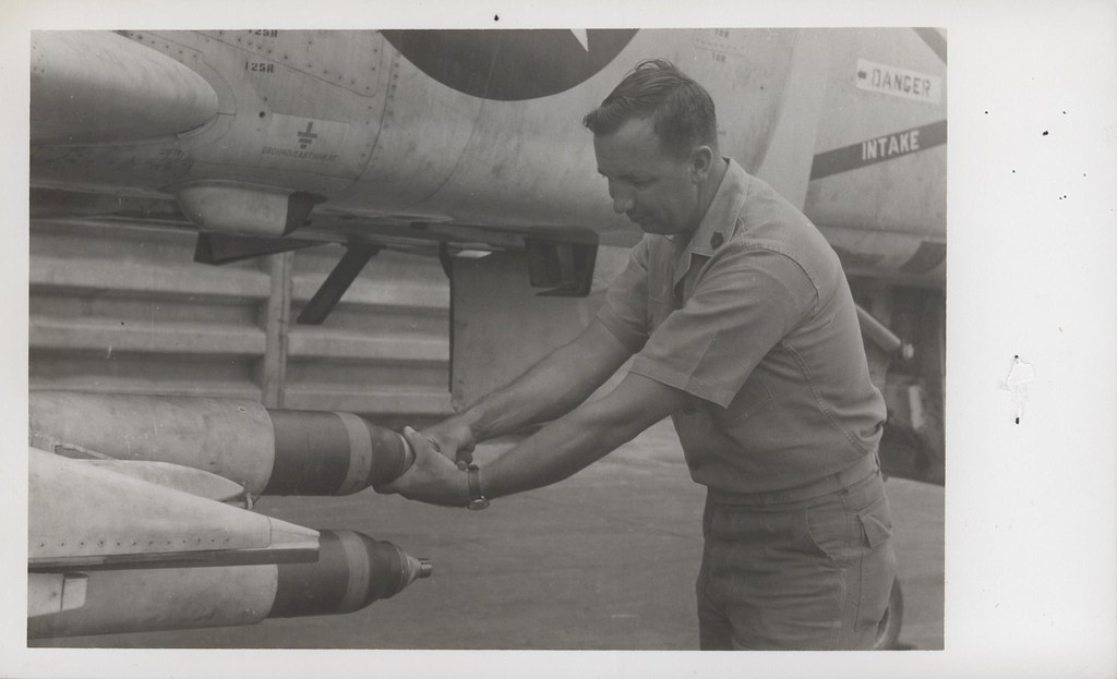 Jan Polly Checks Ordnance, 5 September 1968