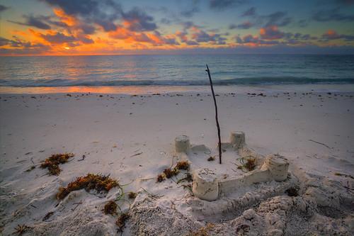 park castle beach sunrise honda keys sand weed state florida bahia sandcastle hdr sargasso sandspur
