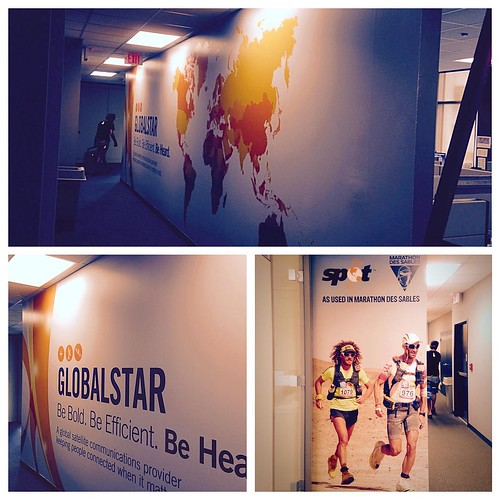 Another large wall wrap for the great people of Global Star.  Thank you for your continued business.  #globalstar #wallwrap #wallgraphics #covingtonwraps #vehiclewraps #branding