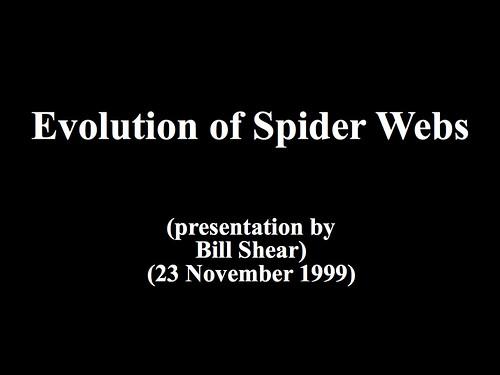 Evolution of Spider Webs