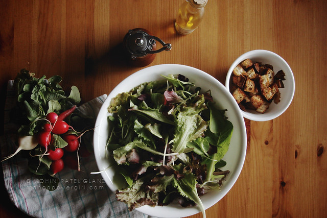 makings of a summer salad