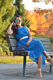 Blue Pleated Maxi Dress | by IThinkILoveItToo