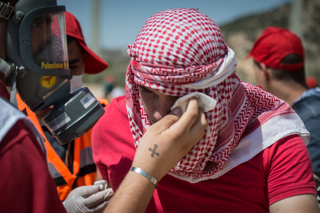 Protest against Israel's land confiscation for separation wall in the Cremisan Valley