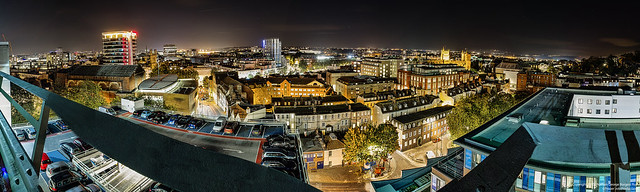 Bristol from Trenchard Street Carpark Panorama