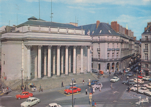 La Place Graslin, Nantes, France old postcard 1960s | by Spottedlaurel