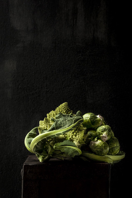 Brussel Sprouts and Romanesco Broccoli