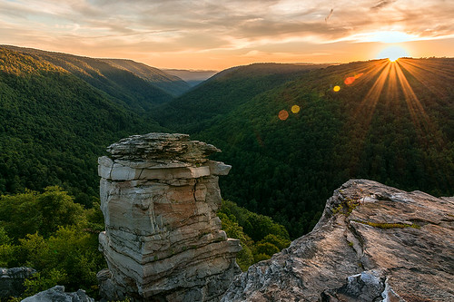 sunset canyon westvirginia blackwaterfalls sunflare alleghenymountains blackwaterfallsstatepark lindypoint