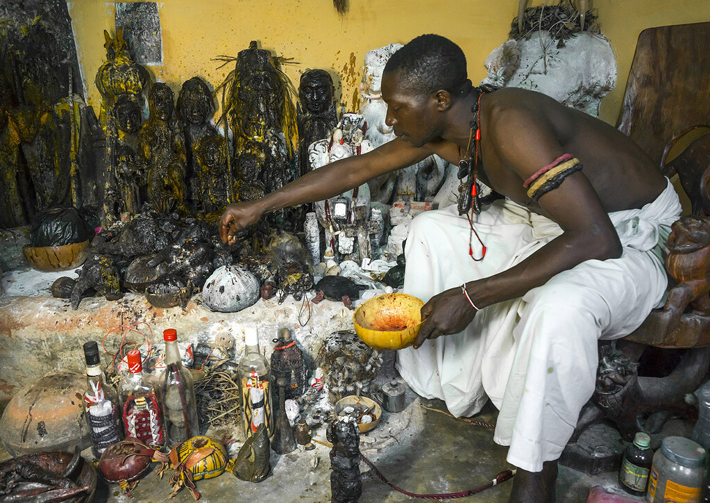 Benin, West Africa, Bonhicon, kagbanon bebe voodoo priest