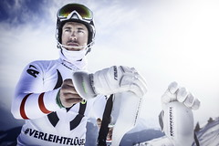 Marcel Hirscher prepares to perform during the project 'Marcel Hirscher Colours' at Reiteralm near Schladming, Austria on March 24th, 2015 // Markus Berger / Red Bull Content Pool // P-20150407-00030 // Usage for editorial use only // Please go to www.redbullcontentpool.com for further information. //