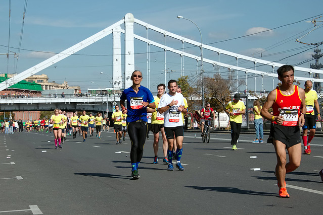 At 38-th km of Moscow Marathon, Moscow