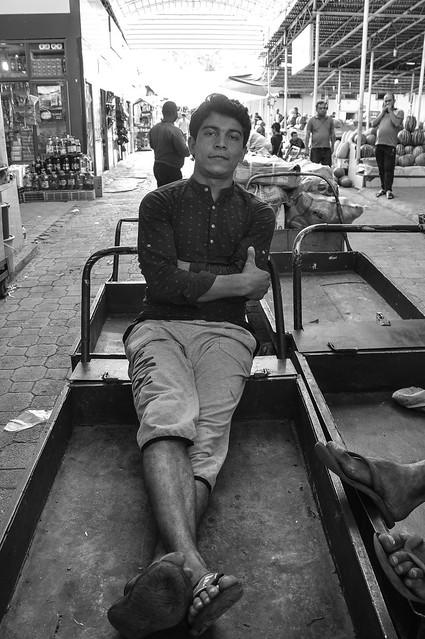 A carrier at the Green Bazaar