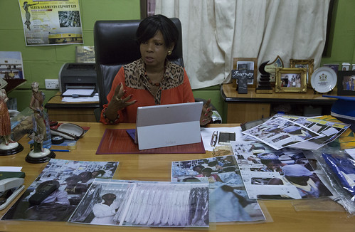 Nora Bannerman-Abbott, CEO of Sleek Garment Export, in Accra, Ghana | by World Bank Photo Collection