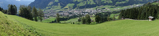 Alpine slope panorama   by quinet