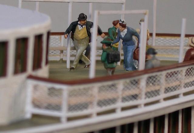 Racing couple on stern saloon deck -steamboat NANTUCKET c.1887, Rex Stewart