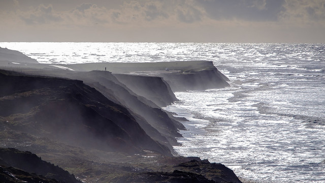 The cliffs above Compton Bay - DSCF2621