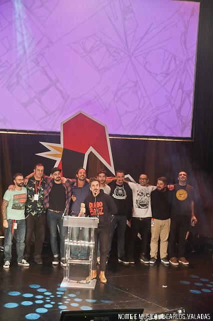 Diabo na Cruz: Melhor atuação ao vivo artista nacional - Portugal Festival Awards '15