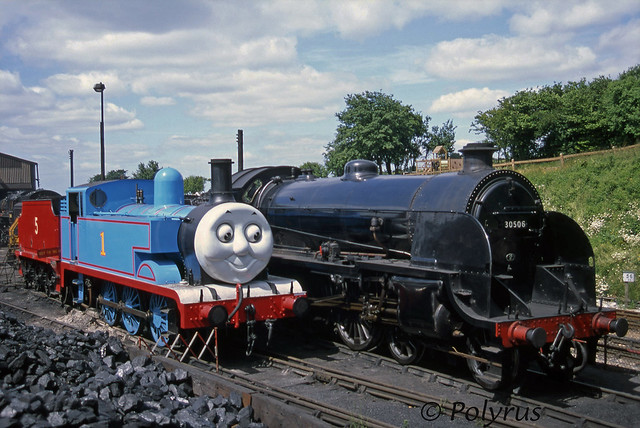 Thomas ogling the S15's buffers at Ropley