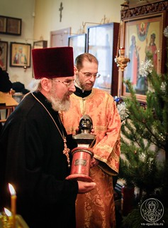 Литургия в храме Дмитрия Солунского 200
