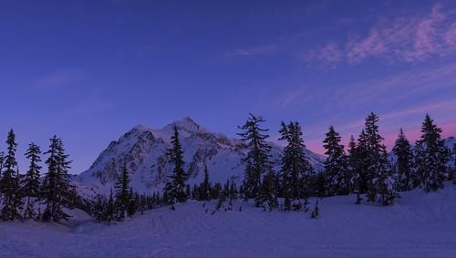 nature landscape mtbakernf mtshuksan sunset snow winter outdoors