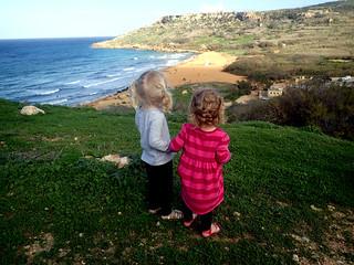 2016 - Europe - Gozo - Beach Day - Girls Overlook II | by SeeJulesTravel