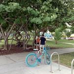 Turquoise bicycle...