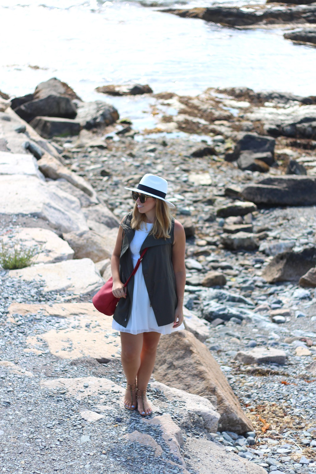New England Coastal Style | Casual Summer Travel Outfit | The Best Little White Dresses Under $50 for Summer | Summer Outfit Ideas | LWD Little White Dress | Casual Outfit Inspiration