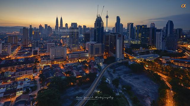 Sunrise in Kuala Lumpur