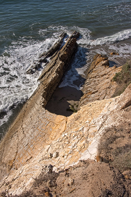 Uplifted and tilted ocean floor