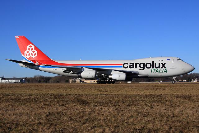 Cargolux Italia  Boeing 747-4R7(F/SCD) LX-TCV