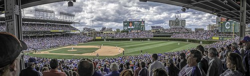 people chicago men sports lights illinois women baseball panoramas wrigleyfield fans clevelandindians chicagocubs wrigleyville scoreboards ballparks nikkor18300mm