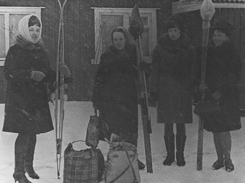 1967 зима мила с подругами в Сортавала1
