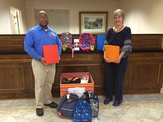Donations collected during the 2015 Guardian ad Litem School Supply Drive hosted by Farmers and Merchants Bank in Tallahassee, Florida. | by flguardian2