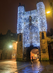 York, Monk Bar illuminated